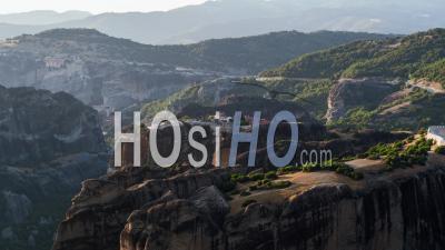 Aerial View Of Meteora, Complex Of Eastern Orthodox Monasteries, Greece - Video Drone Footage