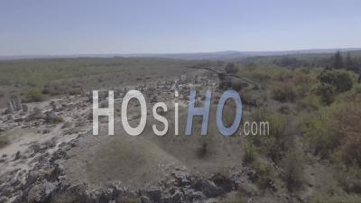 Aerial View Of Pobiti Kamani, Also Known As The Stone Desert - Video Drone Footage