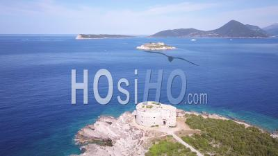 Montenegro Fort Azra View From Above - Drone Point Of View