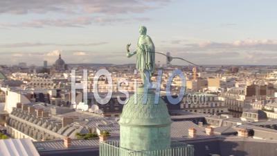 Vue Drone De La Place Vendôme à Paris