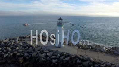 Walton Lighthouse In Santa Cruz By Drone