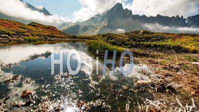 Timelapse Des Alpes Françaises Au Cours De L'automne