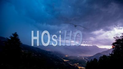 Timelapse Of The Thunderstorm In The French Alps