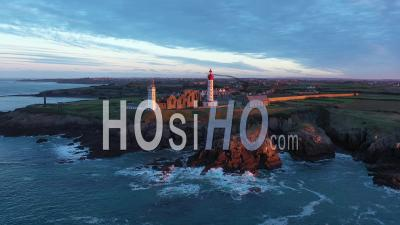 Sunrise From The Sky At Pointe Saint-Mathieu - Drone Point Of View