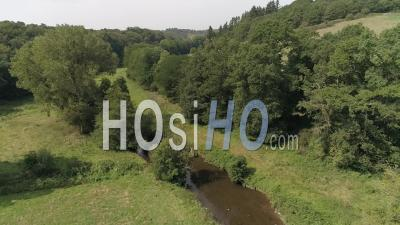 French Hedgerow In Summer - Video Drone Footage