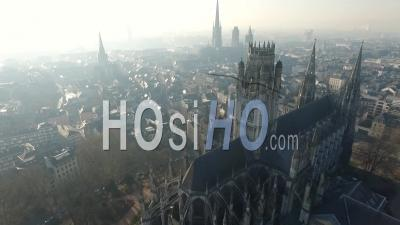 Rouen Cathedral - Video Drone Footage