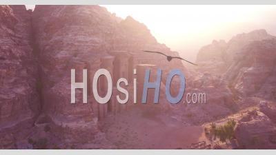 2019 - Aerial Video Of The Monastery Building In Petra, Jordan - Video Drone Footage