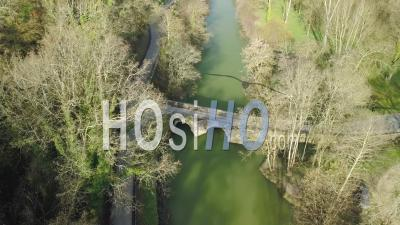Cemetery Lost In Countryside In Sunny Day - Video Drone Footage