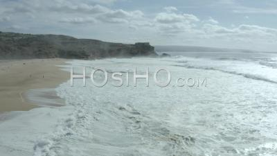 Praia Do Norte And Nazare's Lighthouse - Video Drone Footage