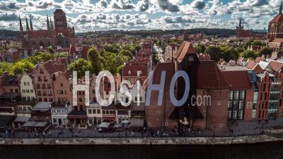 Gdansk, Vieille Ville, Stare Miasto, Vidéo Drone