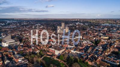 Canterbury Historique, Kent, Royaume-Uni, Site Du Patrimoine Mondial De L'unesco - Vidéo Drone