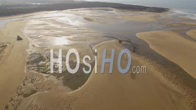 Payré Estuary, Veillon Beach, Talmont-St Hilaire - Video Drone Footage