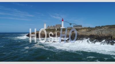Tempête à Pointe Saint-Mathieu, Bretagne - Vidéo Drone