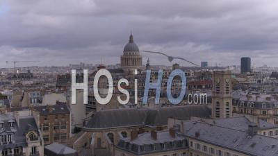 Roofs Of Paris - Latin Quarter - Video Drone Footage