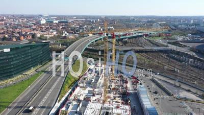 Lille Ville Vide Pendant Le Confinement Global De Covid-19 - Vidéo Drone