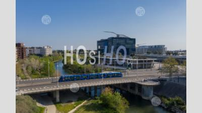 The City Hall Of Montpellier, During Covid-19 - Aerial Photography - Aerial Photography