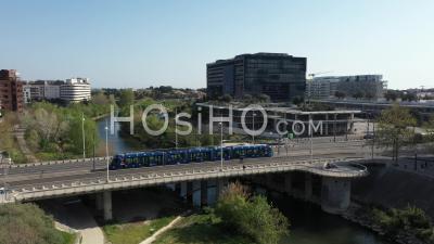 Vue Aérienne De La Mairie De Montpellier Pendant Covid-19 - Vidéo Par Drone