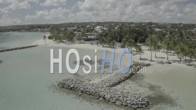 Beach Of Sainte - Anne, Guadeloupe During Covid19 - Video Drone Footage