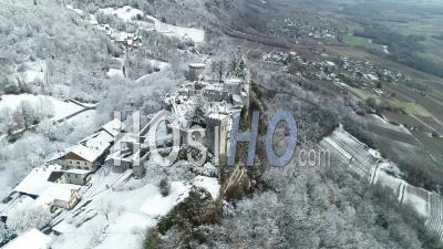 Castle Of Miolans View By Drone