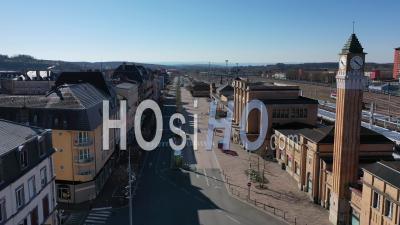 Gare, Belfort, France, Pendant La Pandémie De Covid-19 - Vidéo Drone