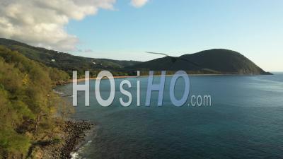 Plage De Grande Anse, Guadeloupe Pendant Le Confinement - Séquences Vidéo De Drones