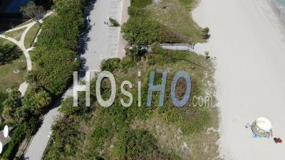 Covid-19 Aerial Footage Of Hollywood Beach, Florida - Video Drone Footage