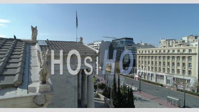 Centre D'athènes Grèce Covid-19 - Vidéo Drone Academy Of Athens