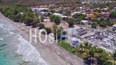 Containment For Covid-19 In Le Diamant, Martinique, By Drone