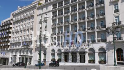 Hôtel Grande Bretagne, Place Syndagma, Confinement Dans Le Centre-Ville D'athènes, Grèce