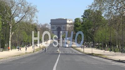 Empty Streets Of Paris, During Covid-19 Lockdown – Ground View