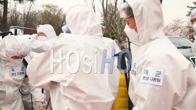 2020 - South Korea Takes Aggressive Action Against The Coronavirus Covid-19 Virus Pandemic Outbreak With U.S. Army Collaboration.