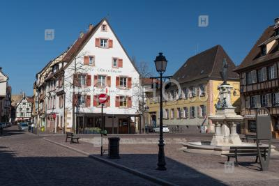 Colmar Downtown Under Containtment Covid19