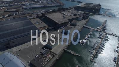 Empty Lorient La Base, At Day15 Of Covid-19 Outbreak, Morbihan, Brittany, France - Video Drone Footage