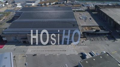 Empty Lorient La Base In Lorient, At Day15 Of Covid-19 Lockdown, France - Video Drone Footage