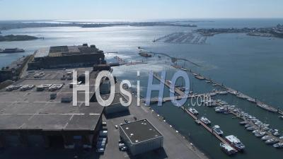 Empty Lorient La Base Of Lorient, At Day15 Of Covid-19 Outbreak, France - Video Drone Footage