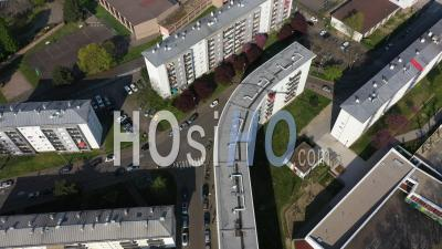 Buildings In Strasbourg, Alsace, France - Video Drone Footage