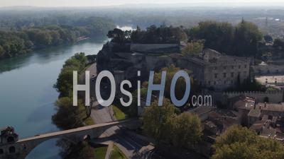 Avignon City In Confinement - Video Drone Footage