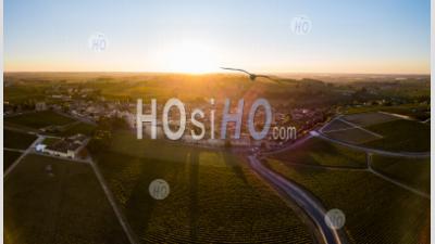 Aerial View Bordeaux Vineyards, Saint-Emilion, Aquitaine Area - Aerial Photography