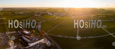 Aerial View Bordeaux Vineyards, Saint-Emilion, Aquitaine Area - Aerial Photography - Aerial Photography