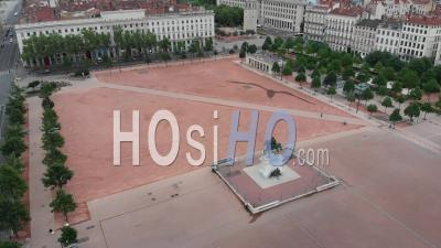 Deserted Place Bellecour - Video Drone Footage