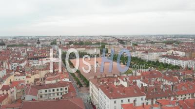 Empty Place Bellecour - Video Drone Footage