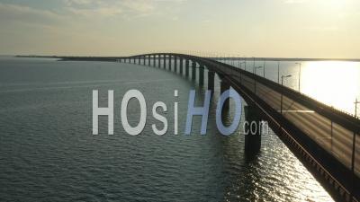Ile De Re Bridge Drone Point Of View During Covid-19 Outbreak