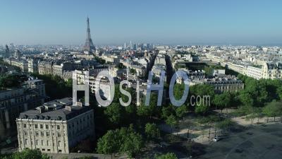 Avenue Des Champs Elysées Vue Par Drone Au Lever Du Soleil