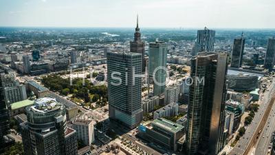 Centre Ville, Palais De La Culture Et Des Sciences, Palac Kultury I Nauki, Pkin, Varsovie, Warszawa Vidéo Drone