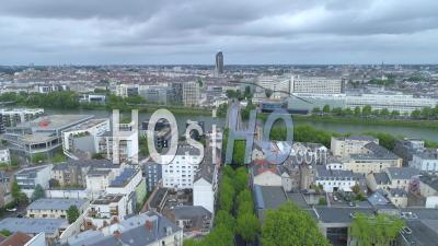 Empty Place De La Republique In Nantes, On Labour Day During Covid-19 Lockdown - Video Drone Footage