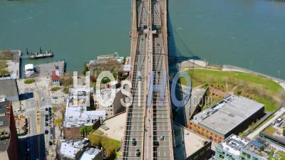 Pont De Brooklyn Manhattan New York Pendant La Pandémie De Covid-19 - Vidéo Drone