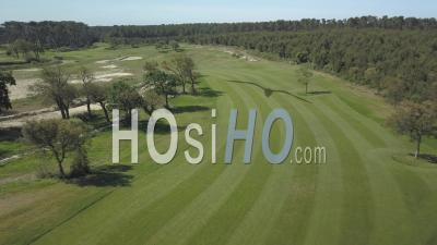 Aerial View Golf And Pinsolle Pond - Video Drone Footage