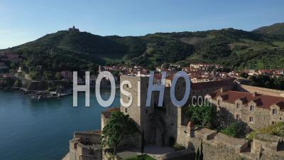Royal Castle Of Collioure, Viewed From Drone