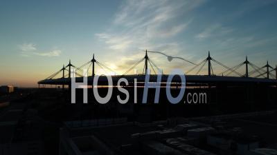 Stade De France, Saint Denis. Coucher De Soleil – Vidéo Aérienne Par Drone