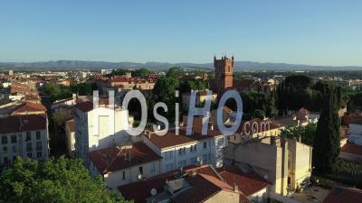 Eglise Saint Jacques à Perpignan - Vidéo Aérienne Par Drone